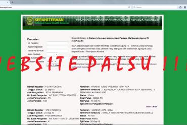 WASPADA TERHADAP WEBSITE INFO PERKARA PALSU
