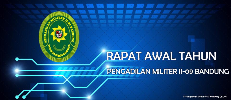 RAPAT AWAL TAHUN ANGGARAN 2020 PENGAILAN MILITER II-09 BANDUNG