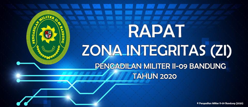 RAPAT ZONA INTEGRITAS (ZI) PENGADILAN MILITER II-09 BANDUNG