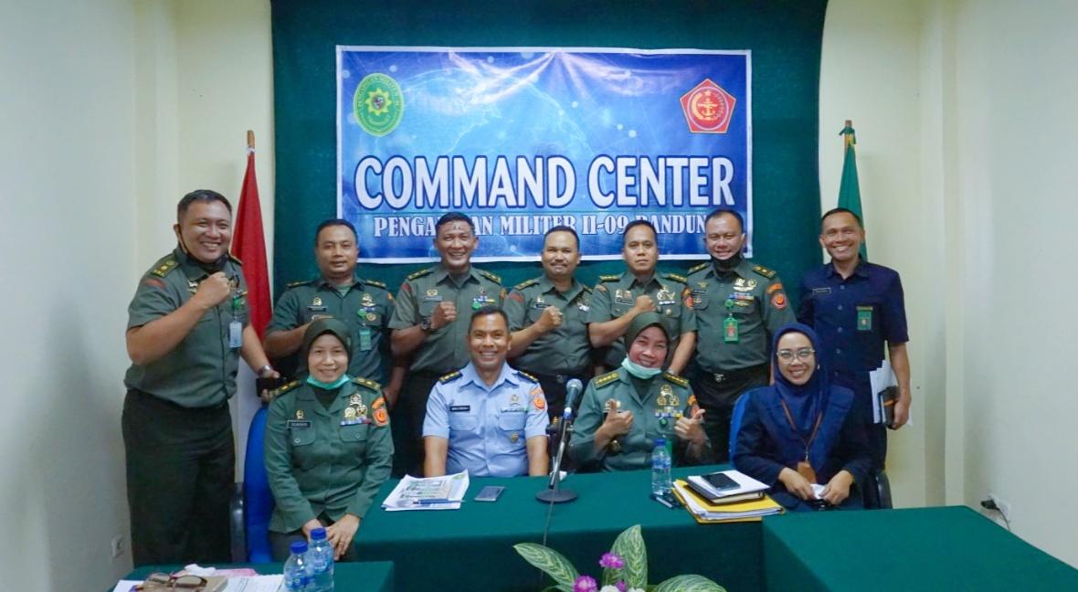 Desk Evaluasi Zona Integritas Pengadilan Militer II-09 Bandung menuju WBK oleh TPN (Tim Penilai Nasional) KemenpanRB