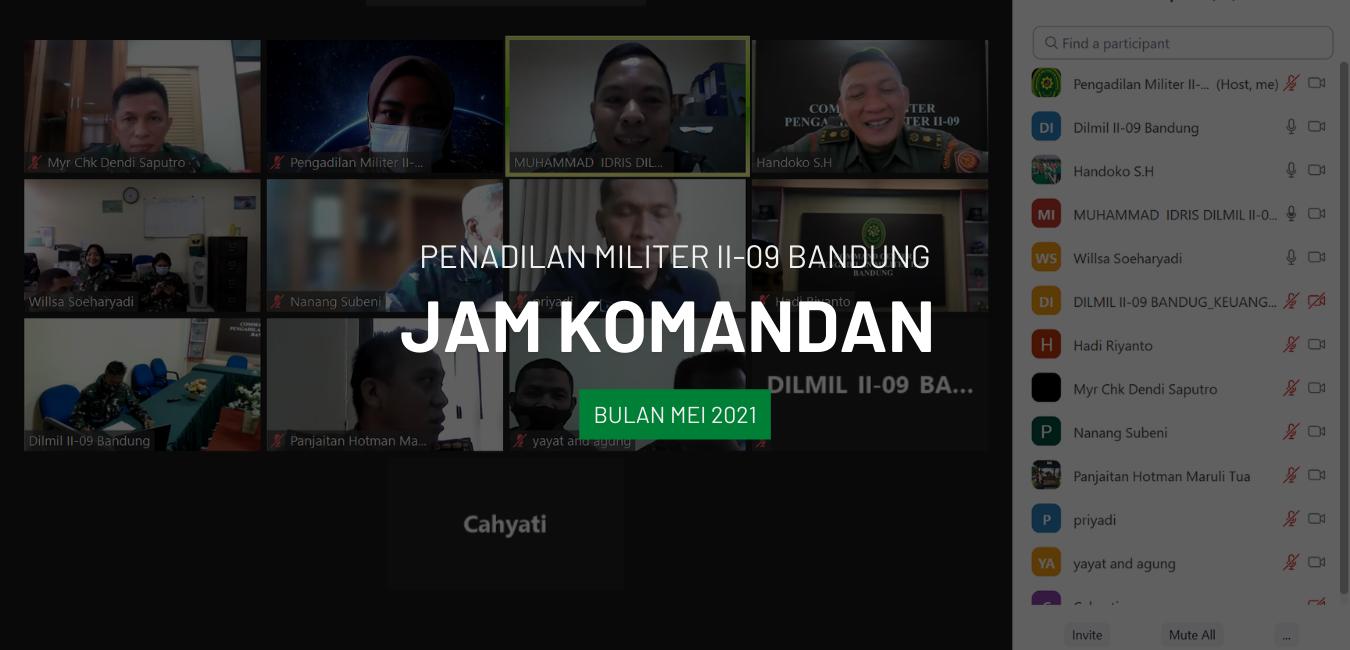 JAM KOMANDAN BULAN MEI 2021 SECARA VIRTUAL