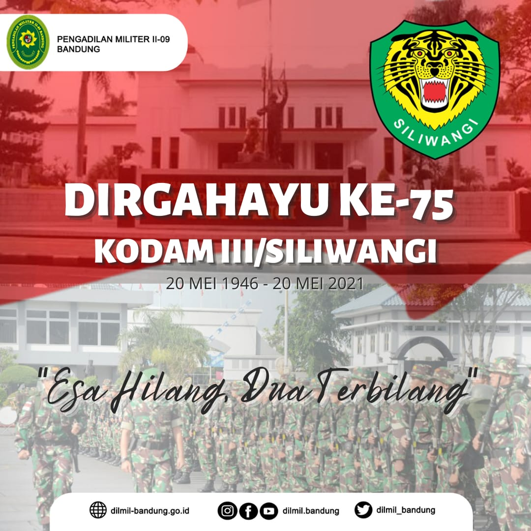 DIRGAHAYU KE-75 KODAM III/SILIWANGI