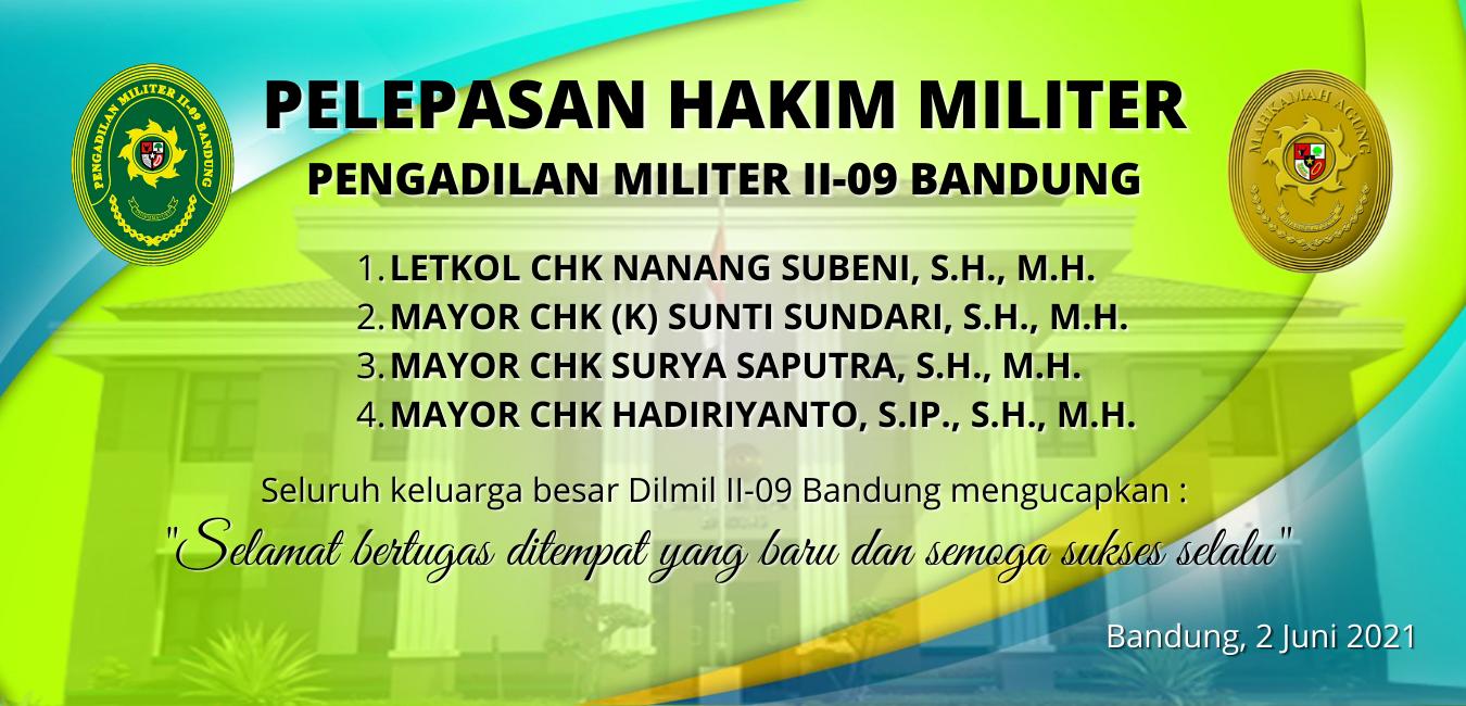 PENGANTAR TUGAS HAKIM MILITER LETKOL CHK NANANG SUBENI, S.H., M.H. DKK 3 ORANG