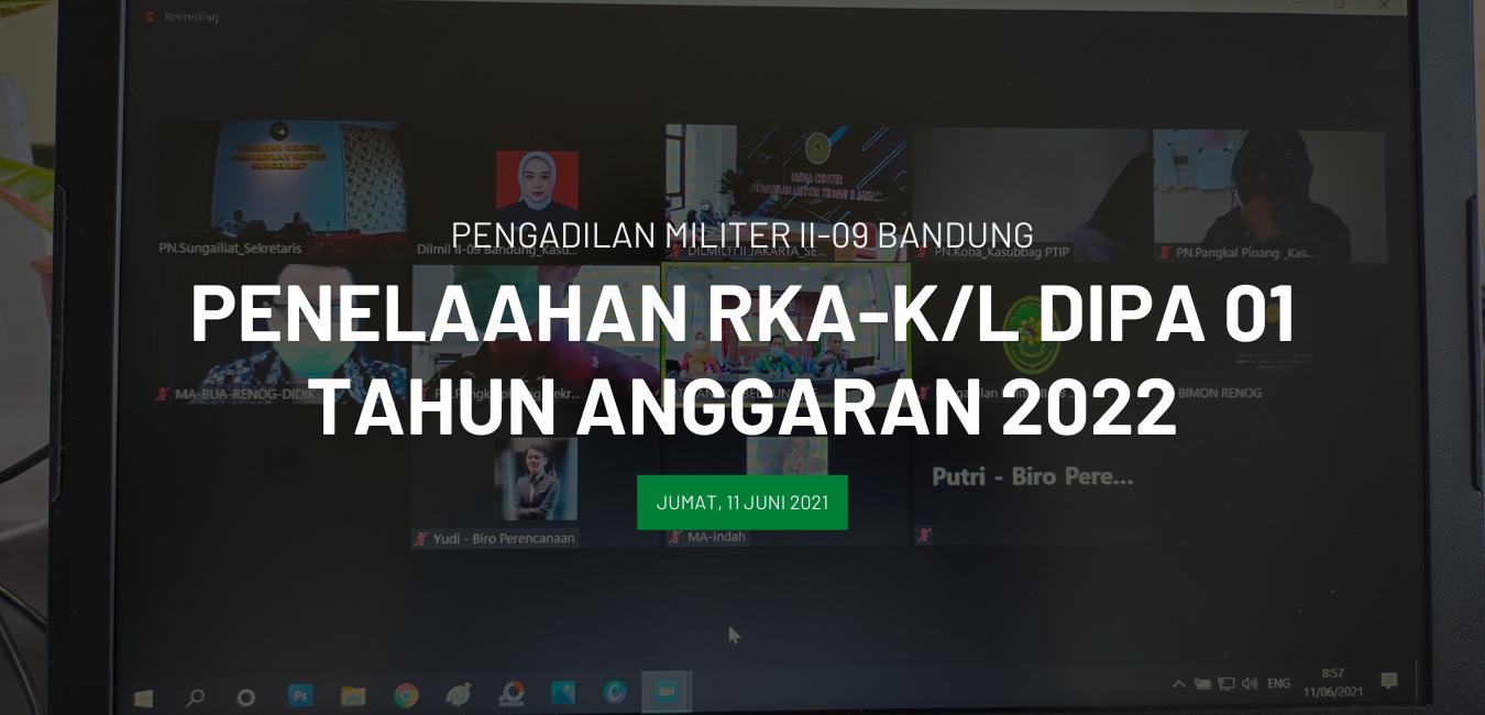 PENELAAHAN RKA-K/L DIPA BUA TA 2022