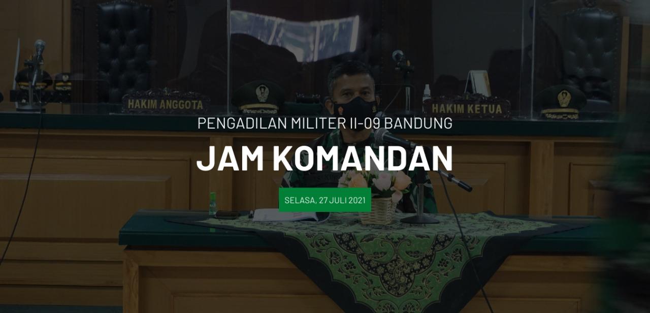 Pengarahan dan Monev Kinerja dipimpin oleh Kadilmil II-09 Bandung Letkol Chk Masykur, S.T., S.H., M.H.