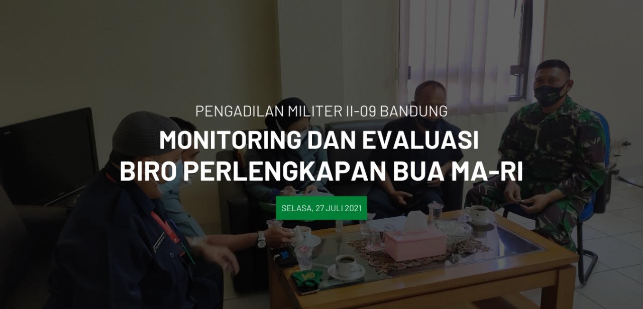 Monitoring dan Evaluasi Biro Perlengkapan Bua Mahkamah Agung