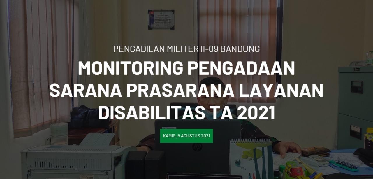 Monitoring Pengadaan Sarana Prasarana Layanan Disabilitas secara daring (online) melalui Zoom Meeting.