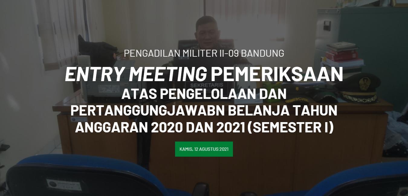 ENTRY MEETING PEMERIKSAAN
